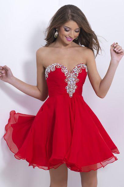 vestido debutante curto vermelho
