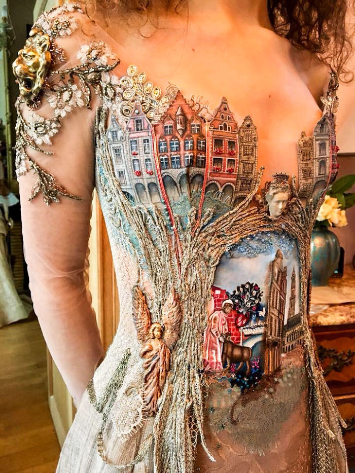 Sylvie Facon vestido cidade velha