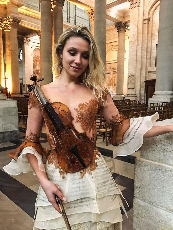 Sylvie Facon vestido de violino
