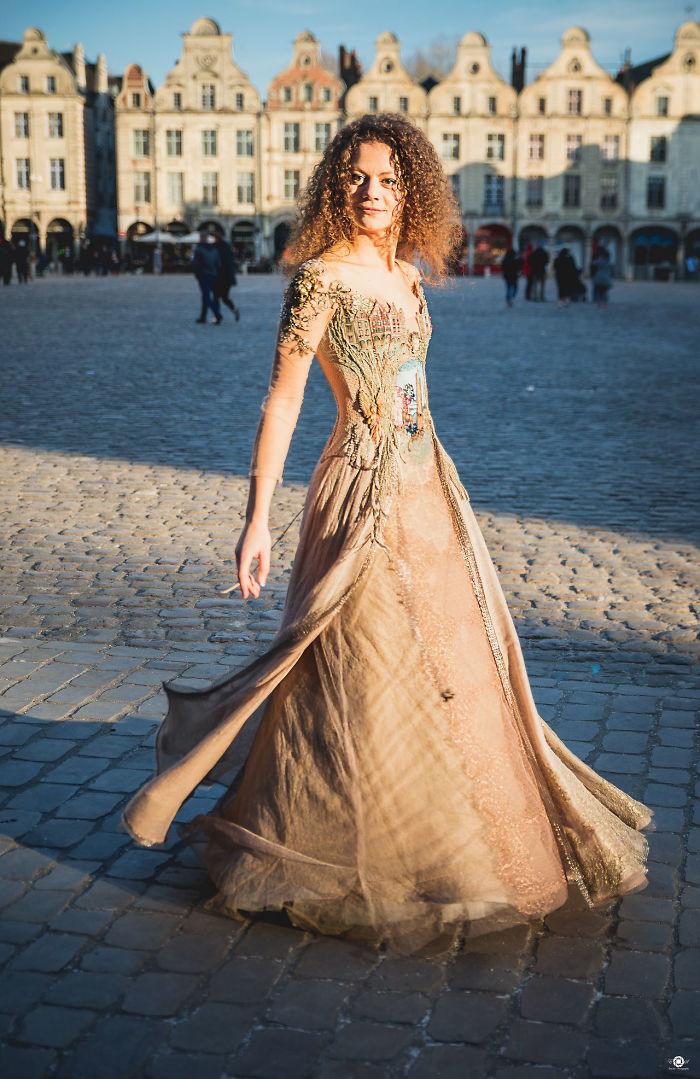Sylvie Facon vestidos realistas e lindos