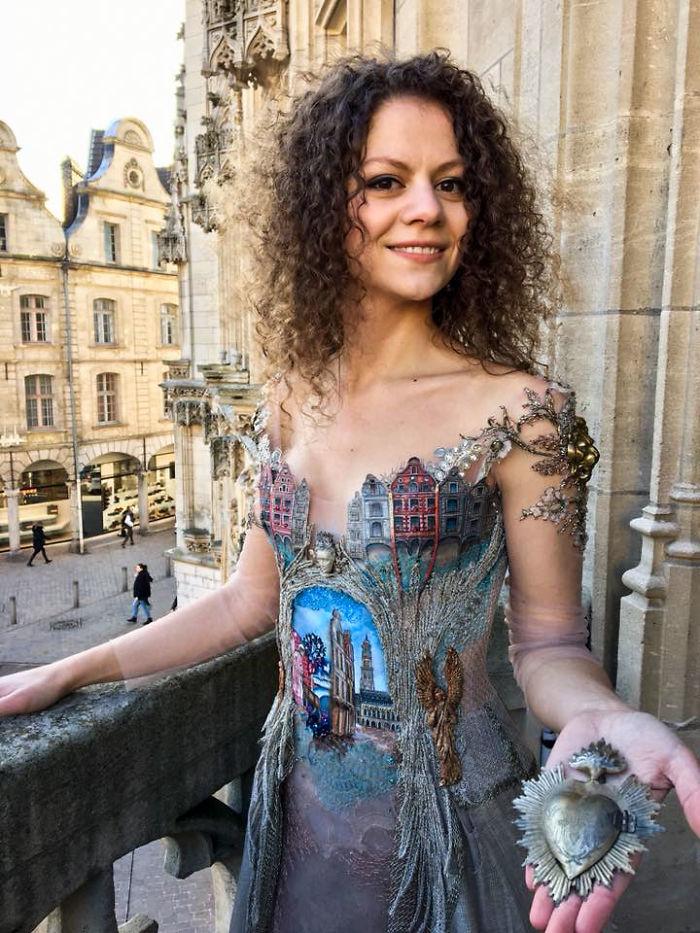 Sylvie Facon vestidos realistas