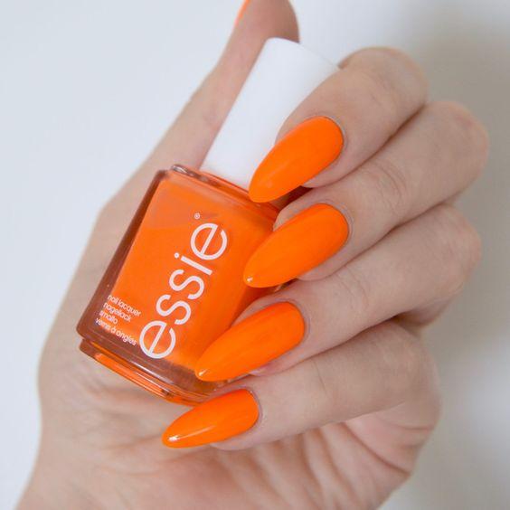 esmalte laranja tendência