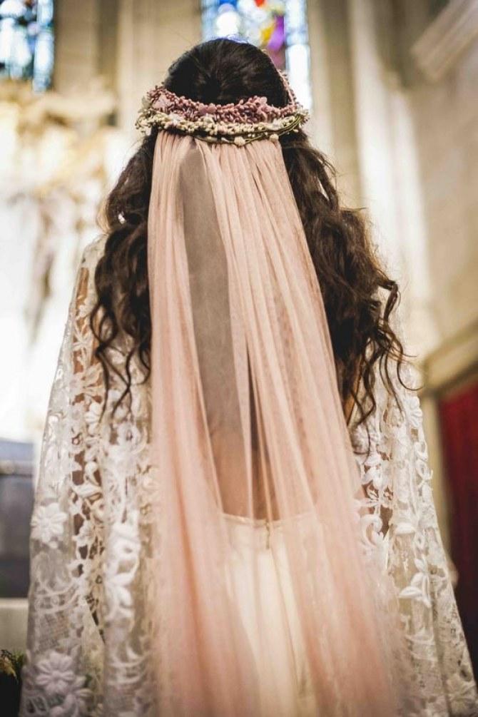 tendência véu de noiva colorido