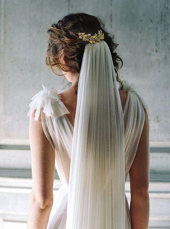 véu de noiva colorido degradê