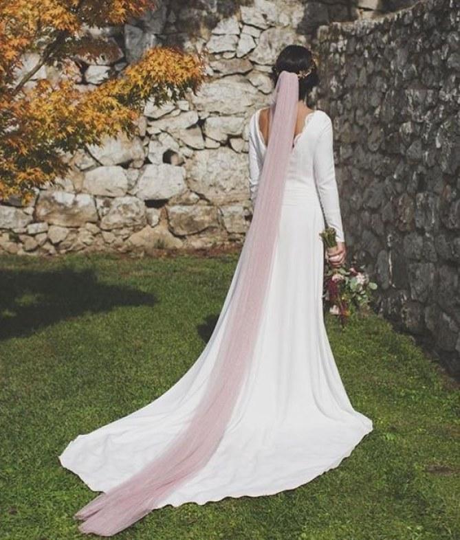 véu de noiva colorido
