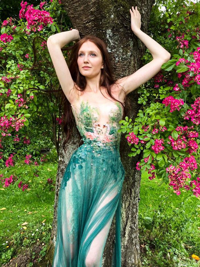 vestido floral Sylvie Facon