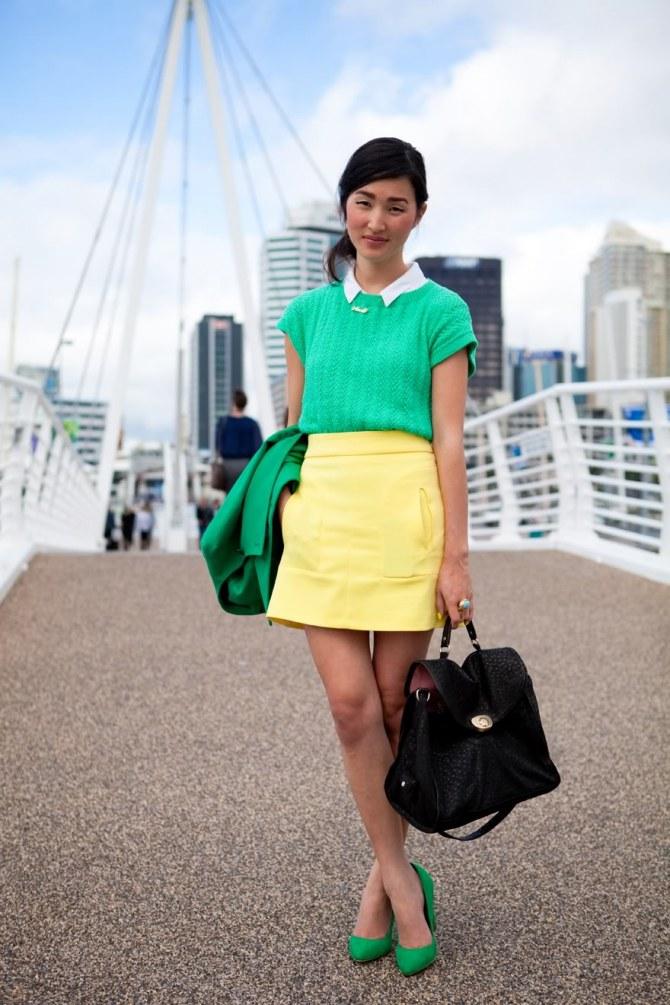 looks com verde e amarelo