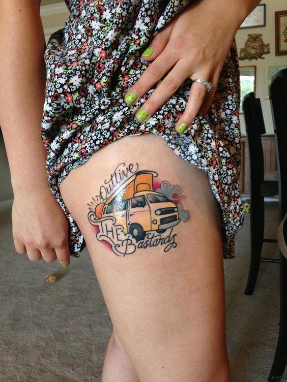 tatuagem de carro