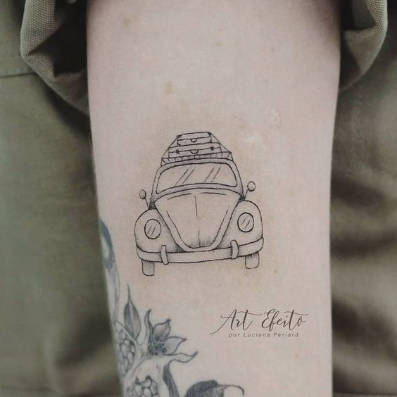 tatuagem de fusca