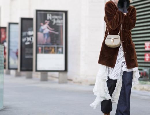 vestido por cima da calça inverno