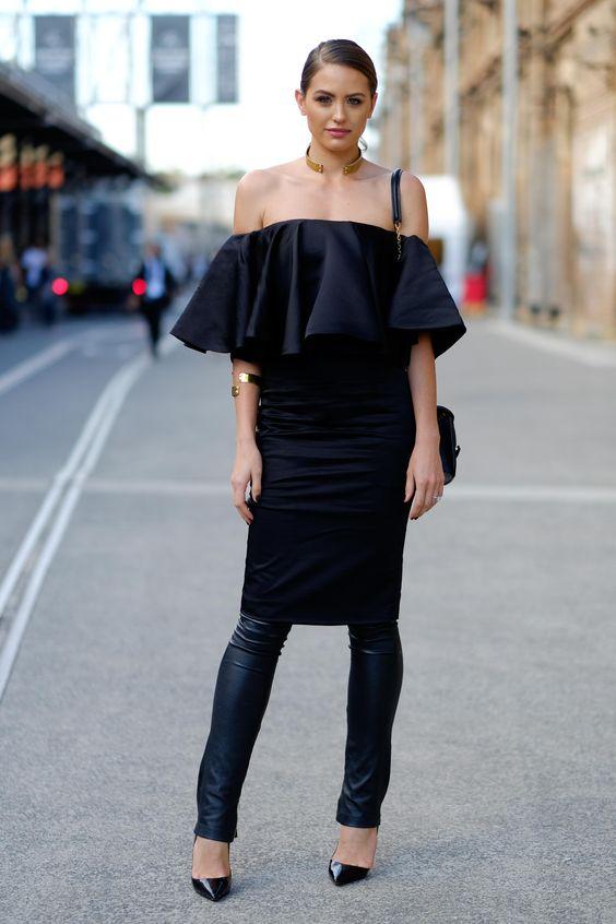vestido social por cima da calça