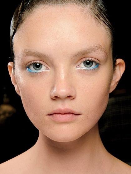 lapis azul degrade nos olhos