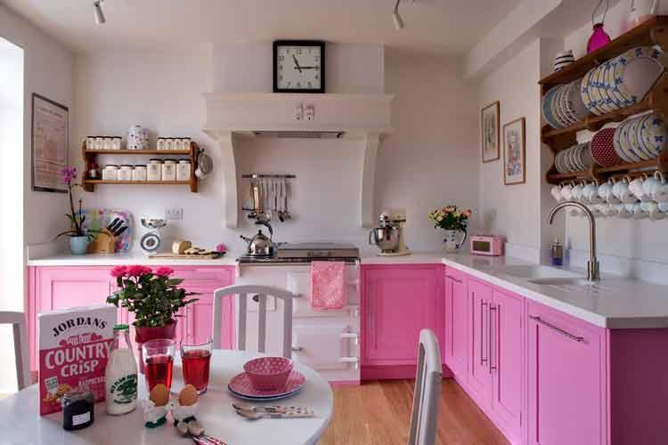 armário-rosa-pink-cozinha