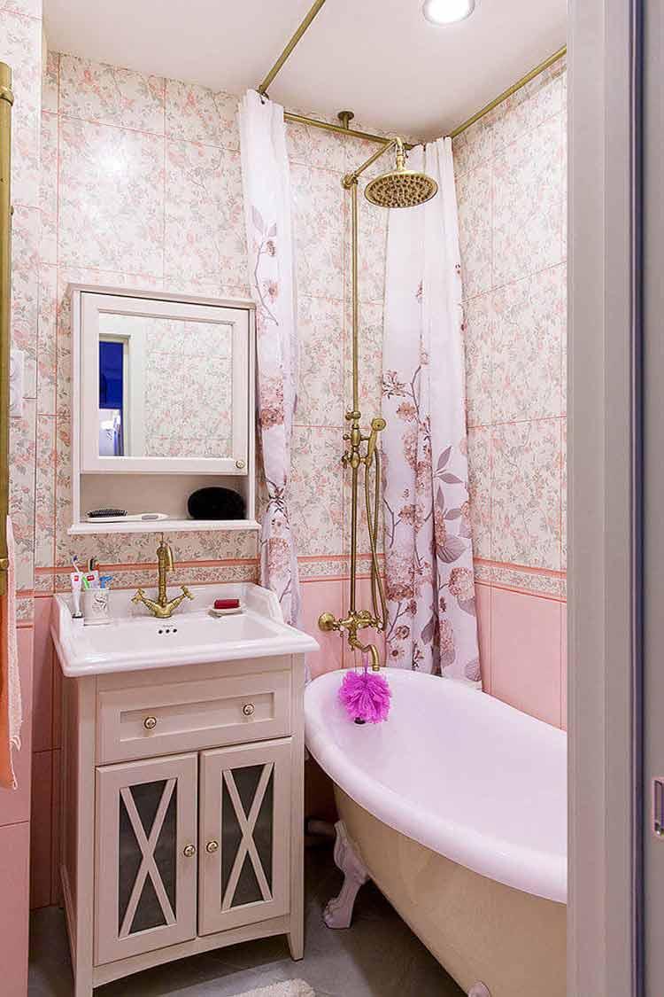 decoração-banheiro-rosa