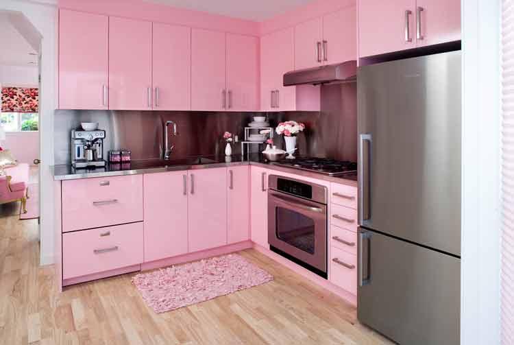 decoração-de-cozinha-com-cor-rosa