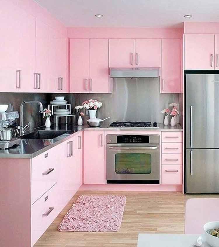 decoração-rosa-claro-cozinha