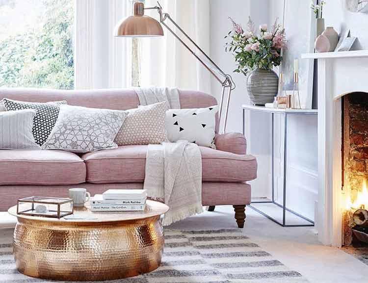 sofa-rosa-na-decoração