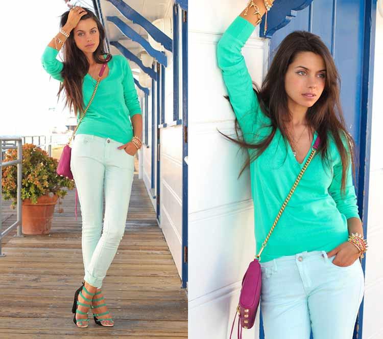 looks-neon-como-usar-camisa-verde-bolsa-rosa
