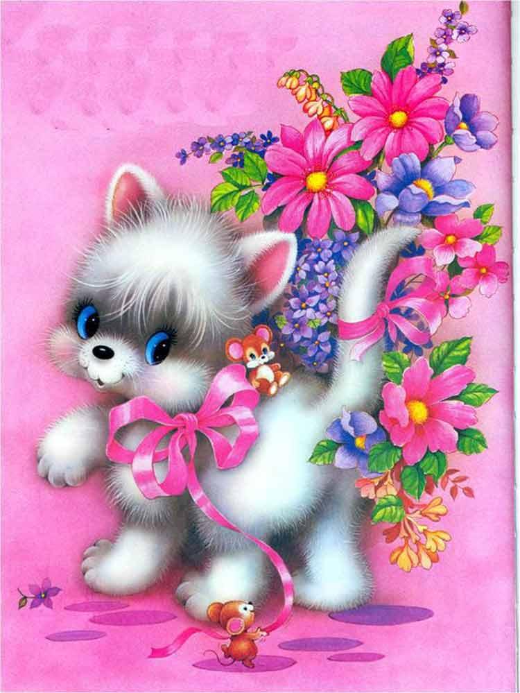 papel-de-carta-gatinho-rosa