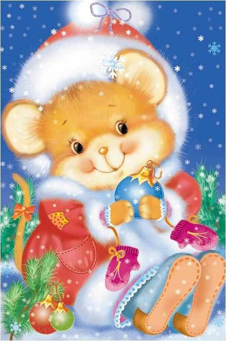 papel-de-carta-urso-natal