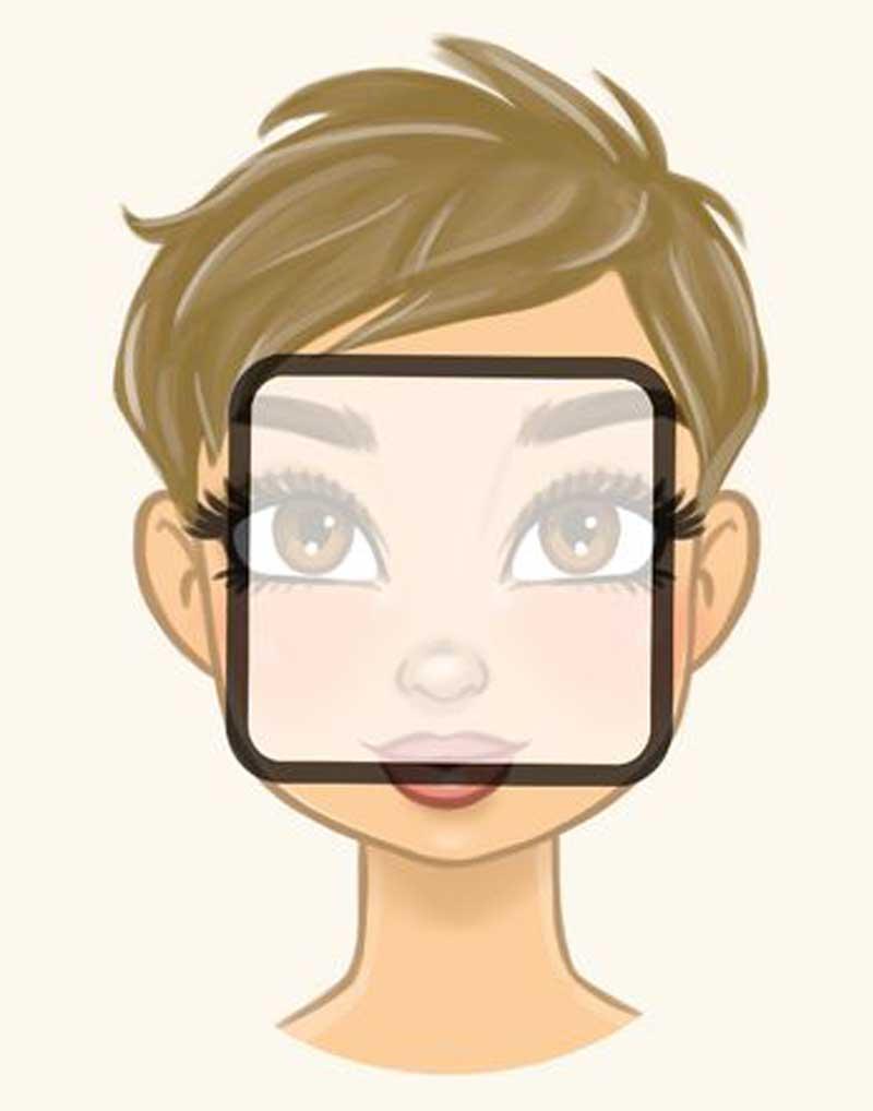rosto quadrado