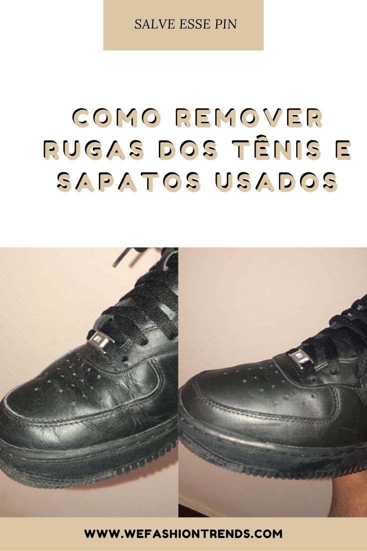Como remover rugas dos tenis e sapatos usados