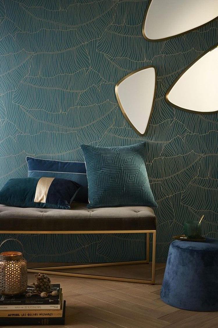 decoração-parede-verde