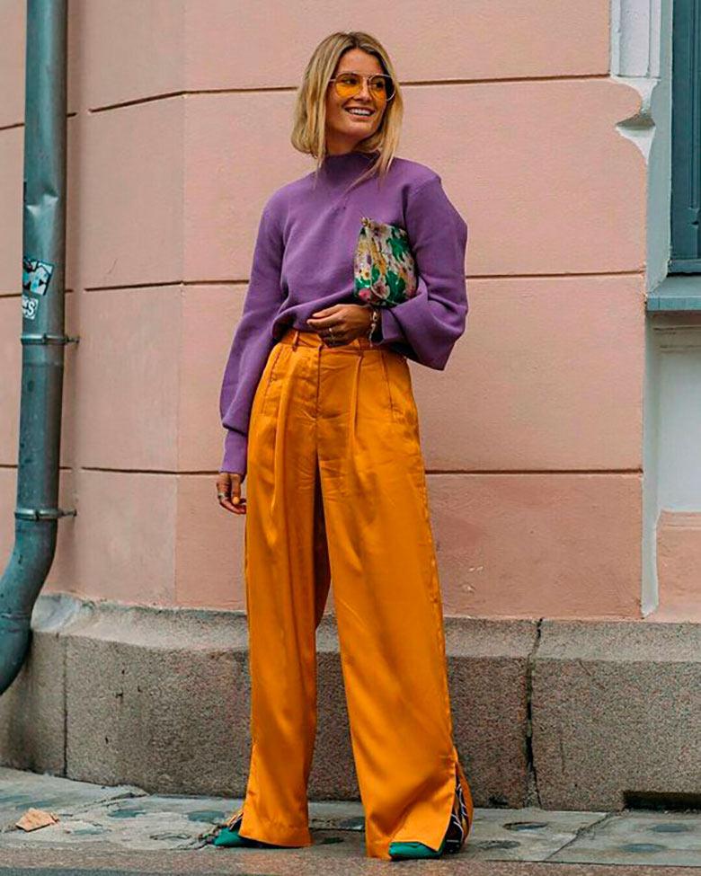 looks-com-bolsa-clutch-calca-cetim-laranja-e-blusa-de-lna-lilas