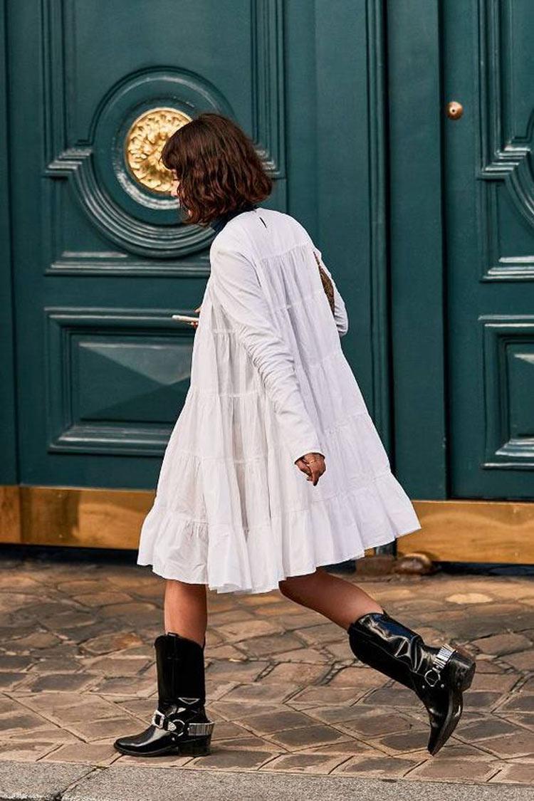 vestido-branco-bota-country-preta