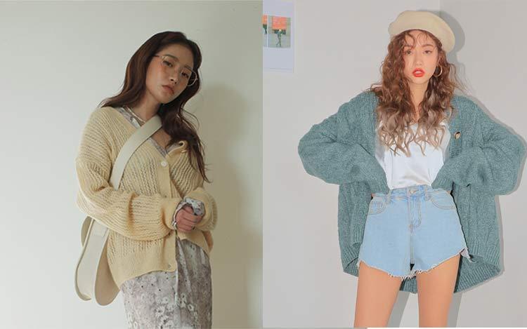 cardigan-moda-coreana
