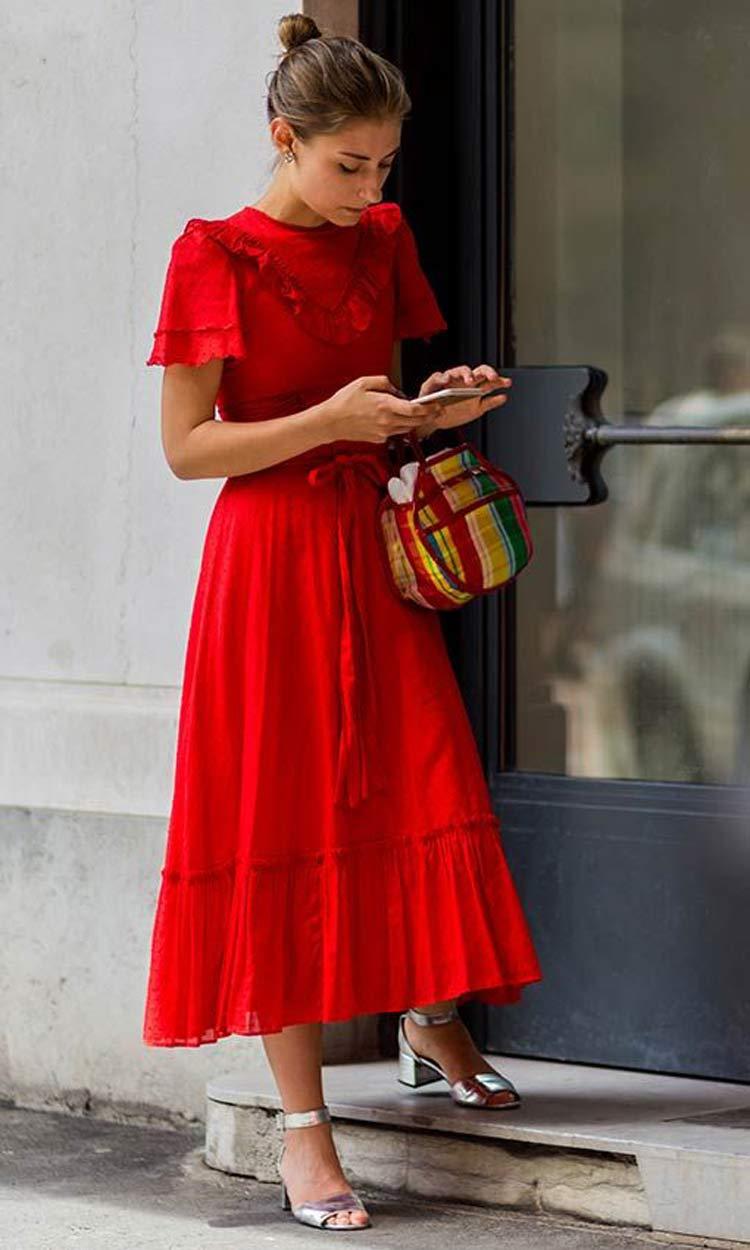 como-usar-vestido-vermelho