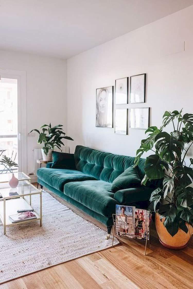 sofá-de-veludo-decoração