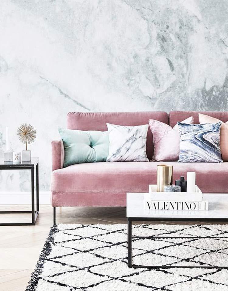 sofa-rosa-veludo-decoração