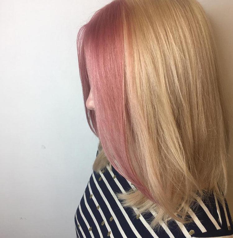 cabelo-colorido-bicolor-rosa-e-loiro