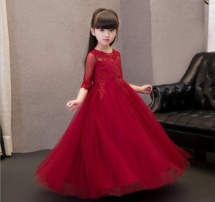 vestido-de-festa-longo-infantil-vermelho