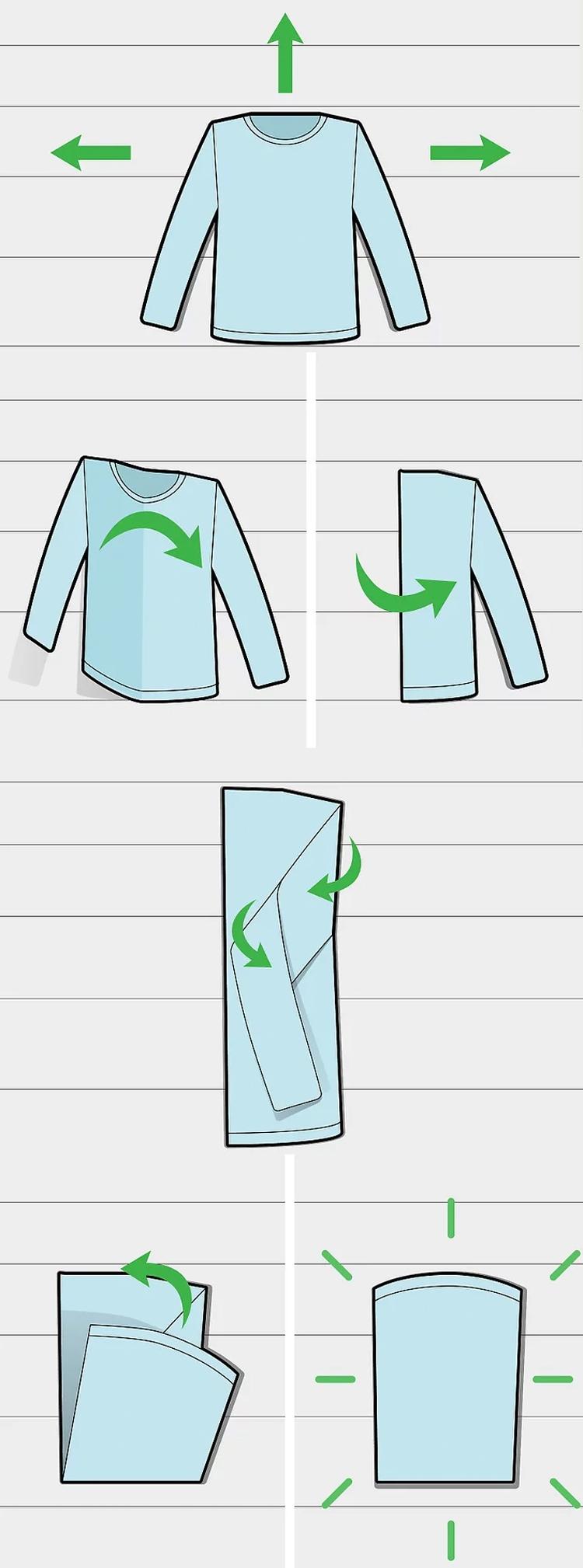 como-dobrar-camiseta-maga-longa