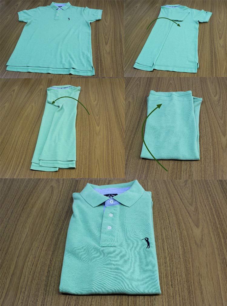 como-dobrar-camiseta-polo