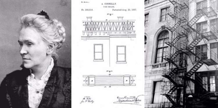 invenção-mulher-escada-de-incendio