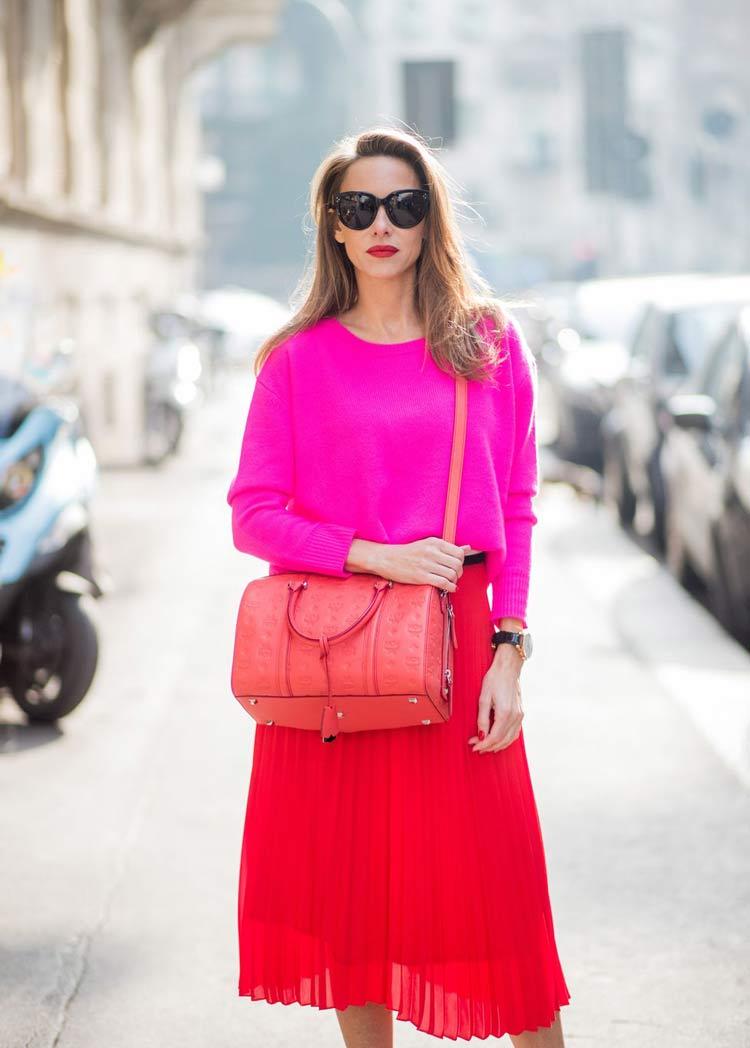 look-colorido-rosa-e-vermelho