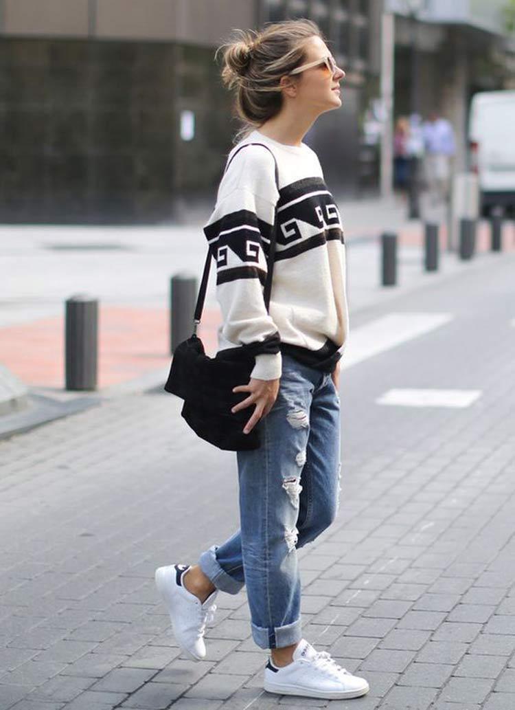 look moletom e calça jeans - ¿Cómo vestirse para una primera cita y tener éxito?  ¡Consejos y looks!