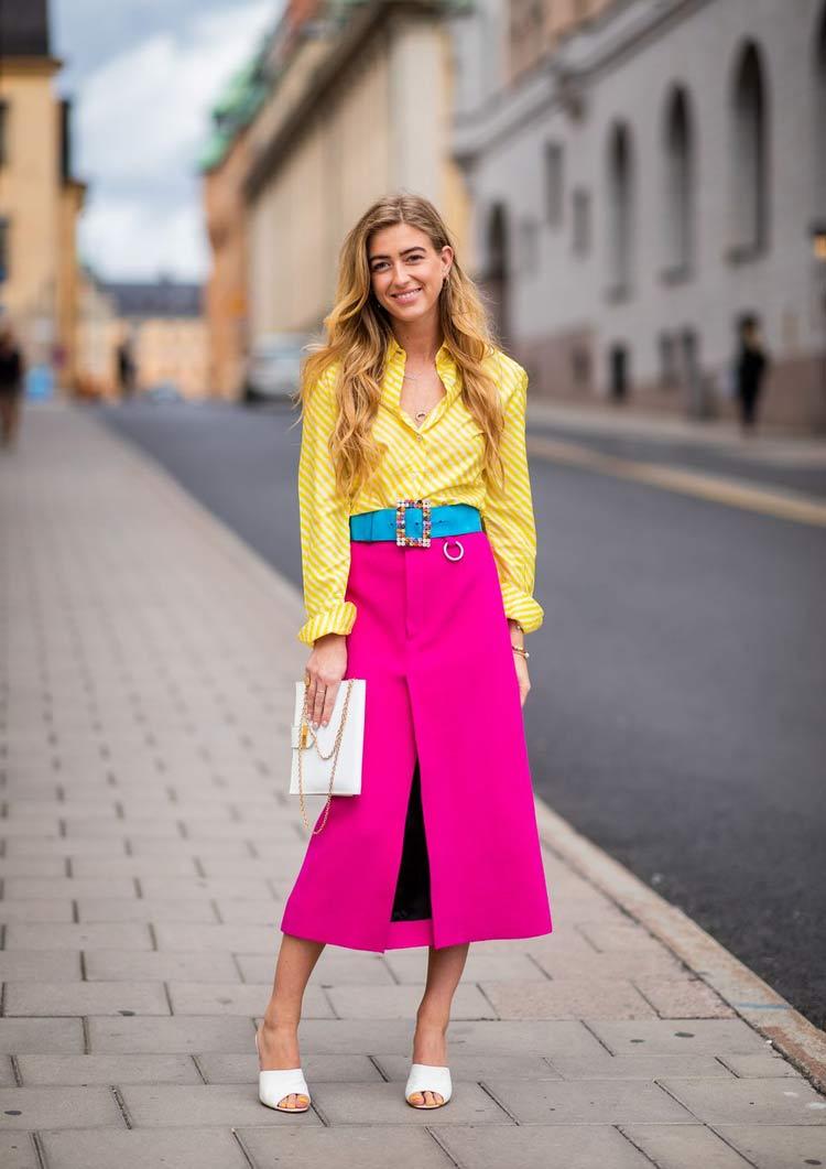 look-saia-rosa-pink-e-blusa-amarela
