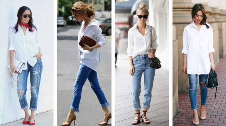looks calça jeans e camisa branca - ¿Cómo vestirse para una primera cita y tener éxito?  ¡Consejos y looks!