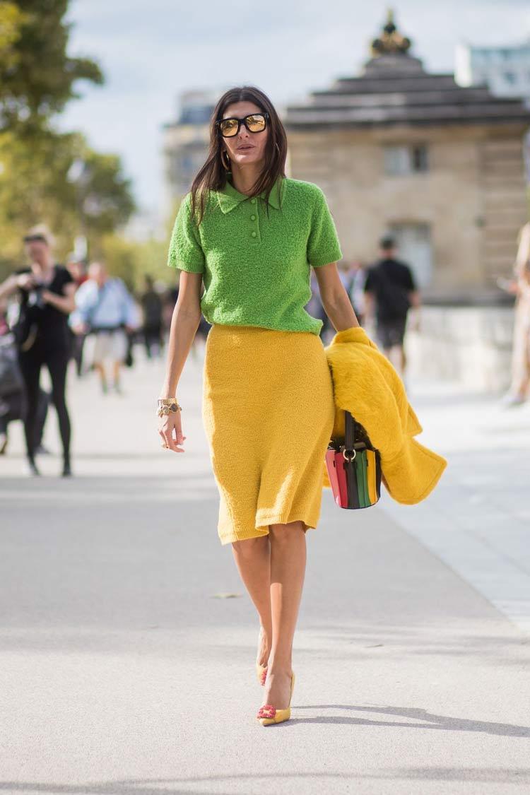 looks-saia-amarelo-e-blusa-verde