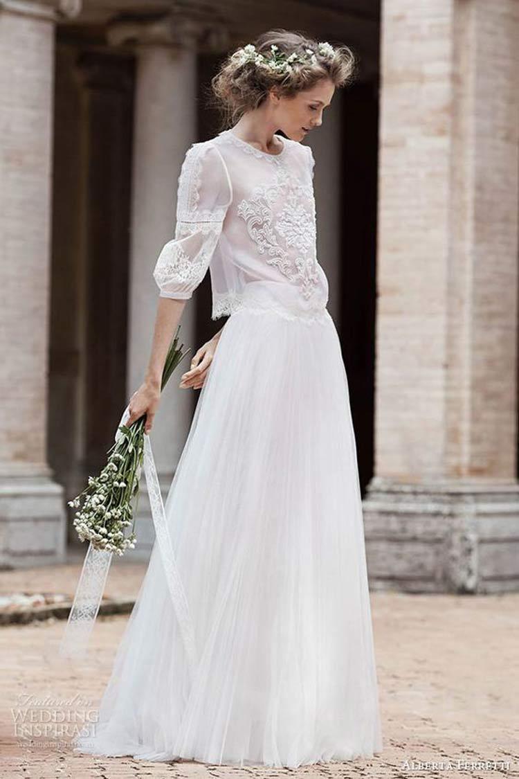 vestido-noiva-inverno-saia-e-blusa