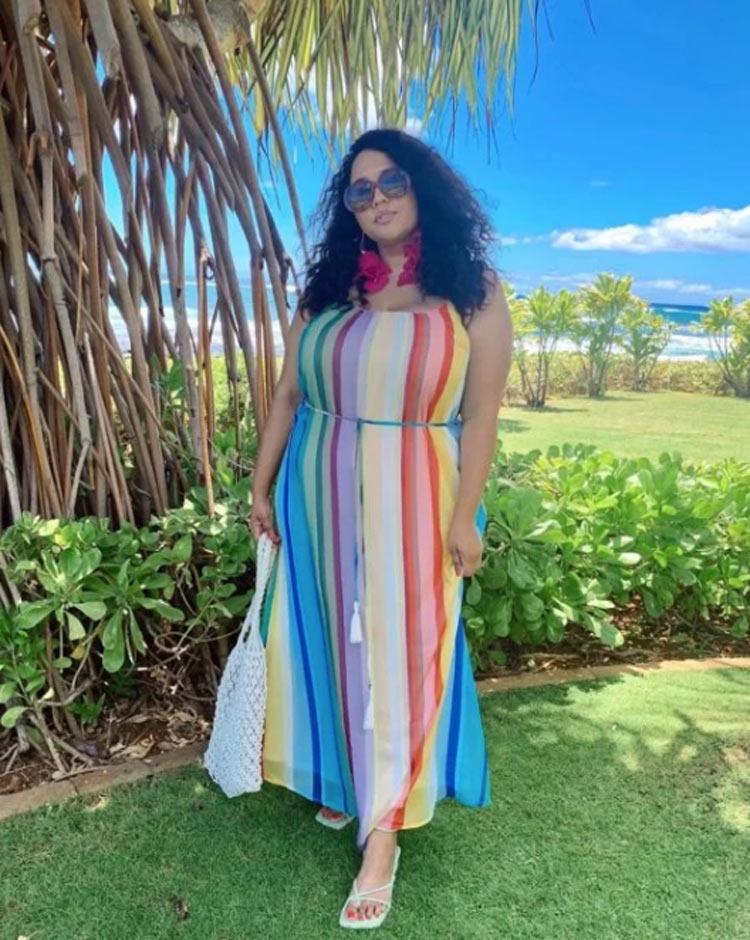 look-plus-size-vestido-colorido
