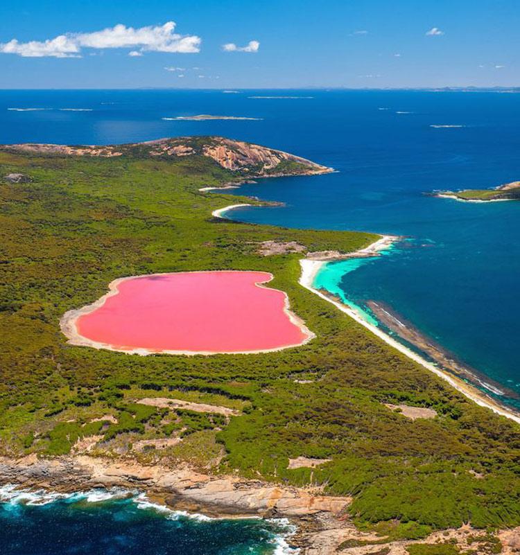 Lago-Hillier-na-Austrália