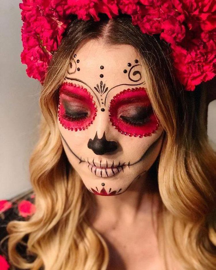 maquiagem-halloween-caveira-mexicana