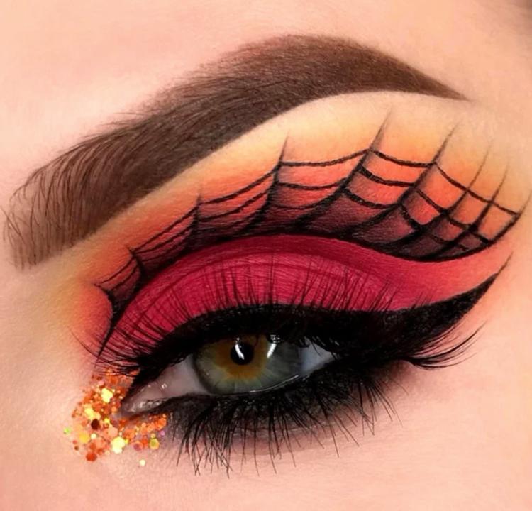 maquiagem-halloween-teia-de-aranha