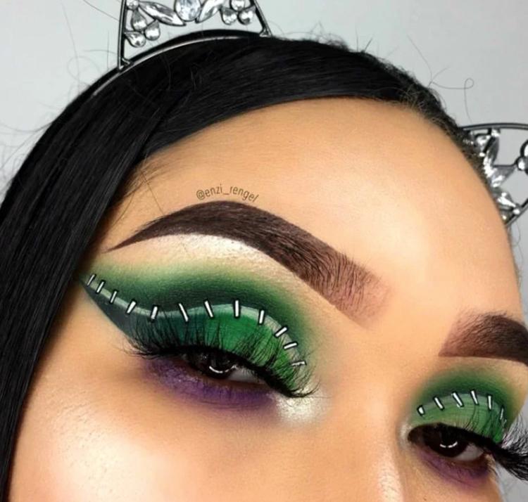 maquiagem-halloween-verde
