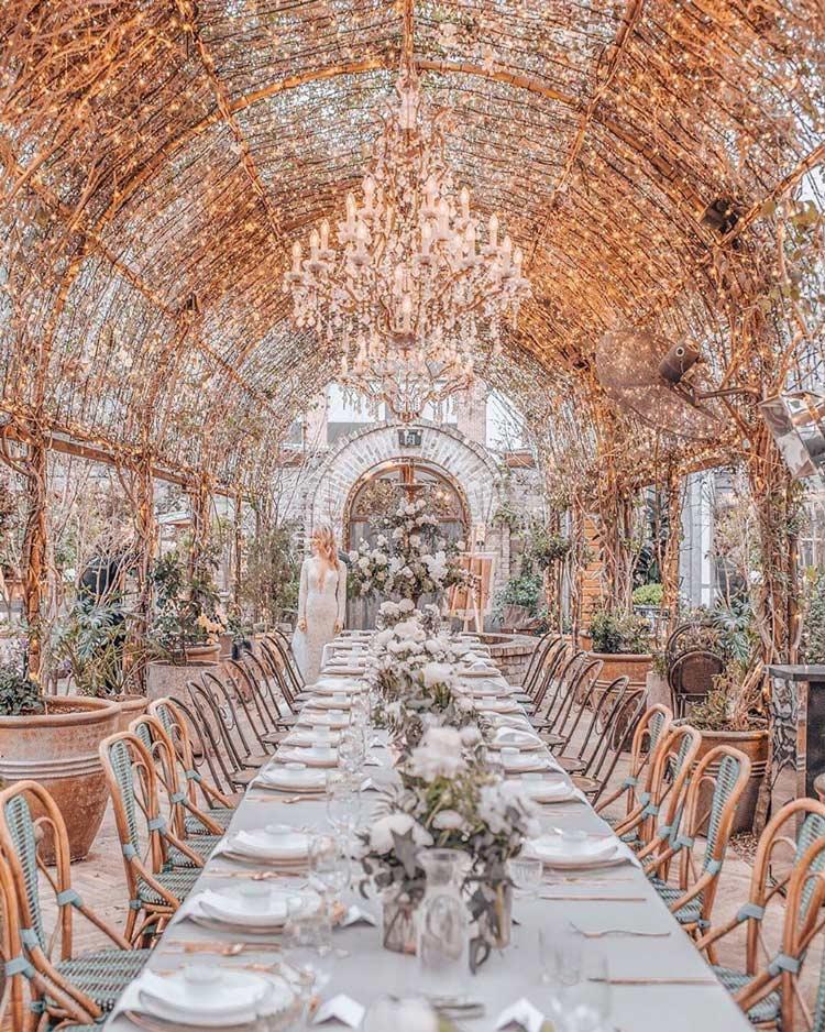 decoração-dourada-casamento